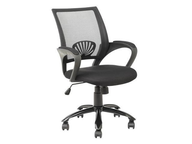 BestChair OC-H12 Ergonomic Mesh Computer Office Desk Task Midback Task Chair with Metal Base - Black