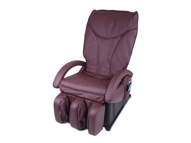 New Full Body Shiatsu Burgundy Massage Chair Recliner Bed