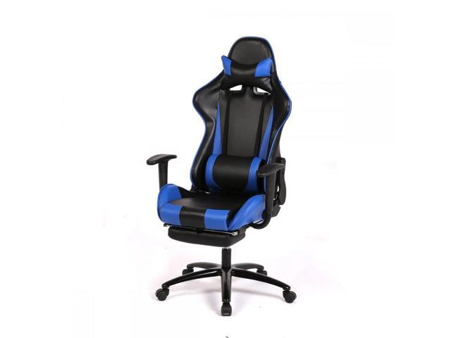 BestMassage RC1 Gaming Chair High-Back Computer Ergonomic Design Racing Chair - Blue