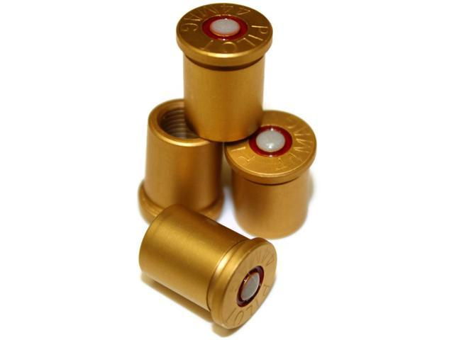 Magnum Bullet 44 Mag Plastic Tire Valve Caps Universal Fits ALL Car & Motorcycle