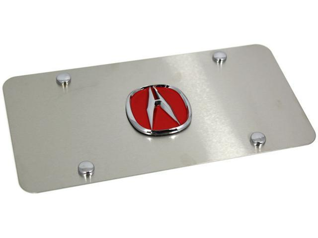 RED Acura Logo Brush Satin Finish Front License Plate Frame Stainless Steel jdm ACU.R.CS