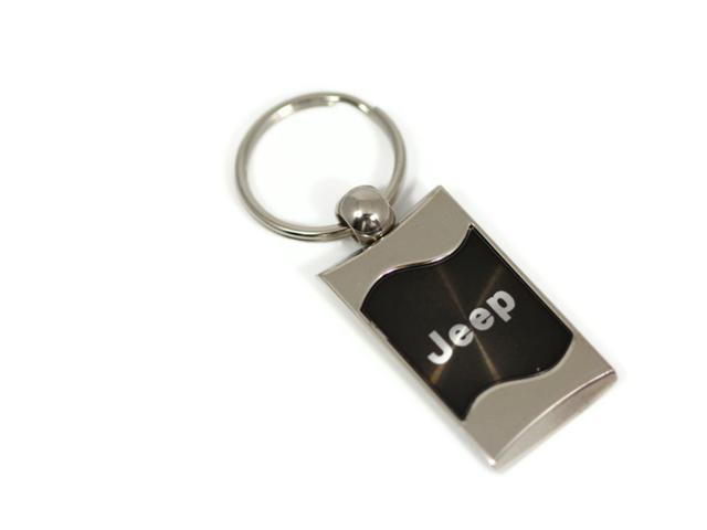 Jeep Keychain NAME Logo BLACK Wave Metal AUTHENTIC Key Ring Lanyard mopar KC3075.JEE.BLK