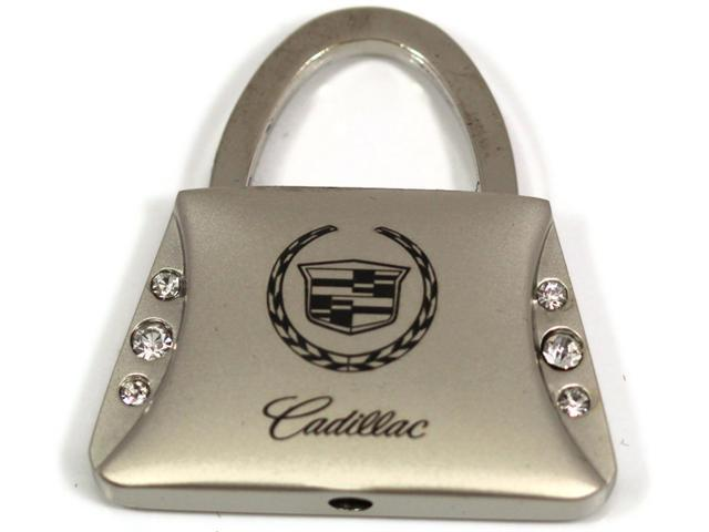 Cadillac Logo Purse Crystal Style Keychain Chrome Key Fob Metal Key Ring KC9120.CAD