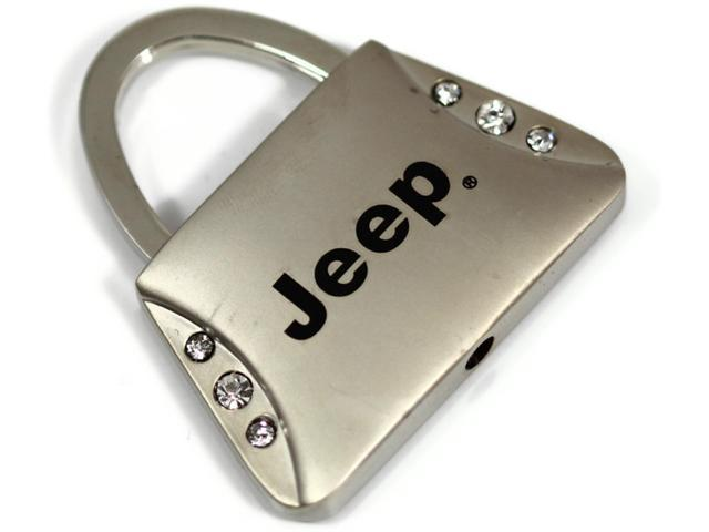 Jeep Keychain Name Logo Chrome Purse Crystal Metal Key Ring Lanyard mopar KC9120.JEE
