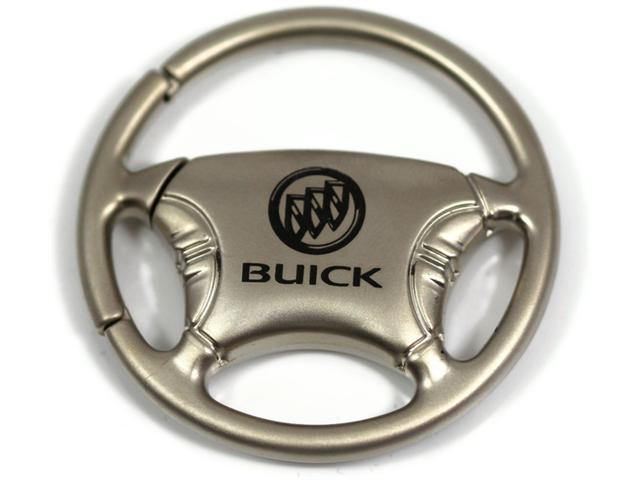 Buick Logo Keychain Steering Wheel Chrome Key Fob Metal Keyring Lanyard KCW.BUI