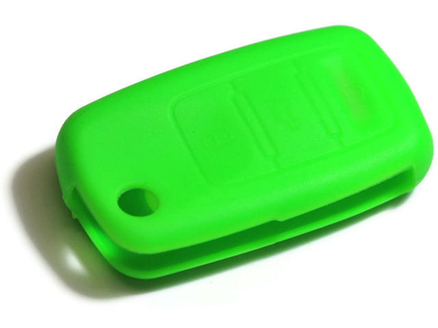 Green Silicone Key Fob Cover Case Smart Remote Pouches Protection Key Chain Fits: Volkswagen Touareg 04-11