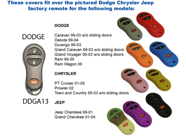 Orange Silicone Key Fob Cover Case Smart Remote Pouches Protection Key Chain Fits: Dodge Ram Wagon 00