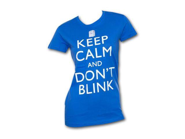 Dr. Who Keep Calm Juniors T Shirt Blue