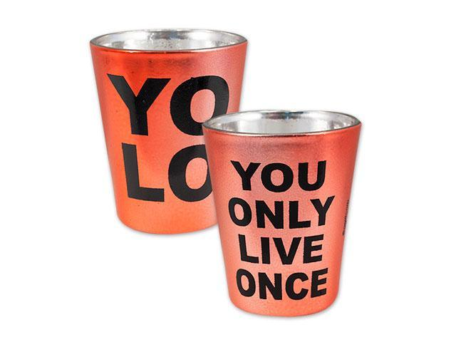 YOLO Metallic Shot Glass