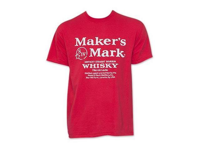 Maker 39 s mark red whiskey logo t shirt for Logo t shirt maker