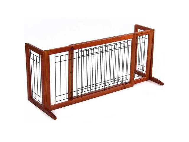 BestChoiceProducts SKY1174 Adjustable Pet Fence Free Standing Indoor Dog Gate