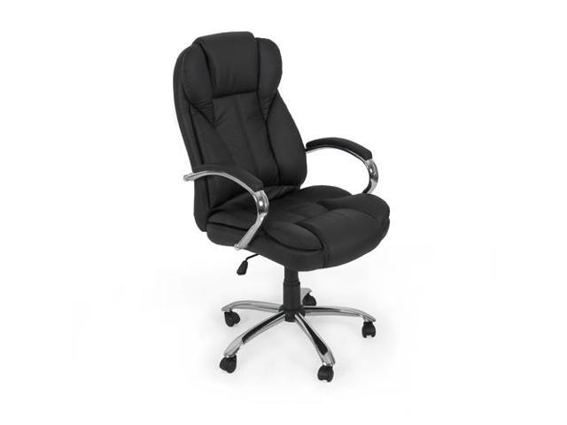 best choice products pu leather high back executive office chair with