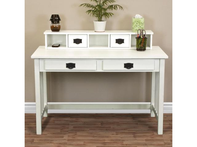 Writing Desk Mission White Home Office Computer Desk Solid Wood Construction New