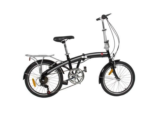 "BestChoiceProducts SKY411 20"" Shimano 6 Speed Folding Storage Bicycle - Black"