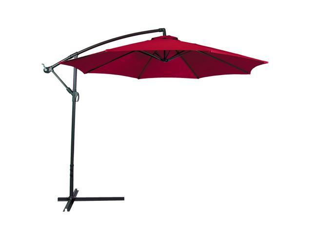 10' Hanging Patio Umbrella Offset (Burgundy)
