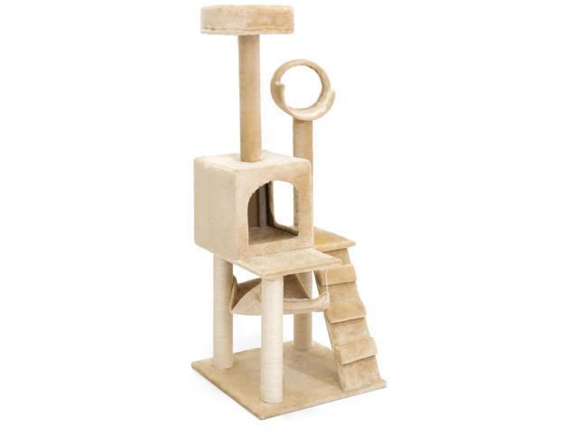 deluxe 52   cat tree tower condo scratcher furniture kitten house hammock deluxe 52   cat tree tower condo scratcher furniture kitten house      rh   newegg