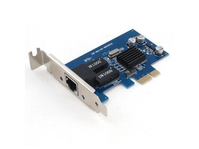 SEDNA - PCIE 10/100/1000 Low Profile Gigabit Ethernet Adapter ( Marvell 805 Chipset )