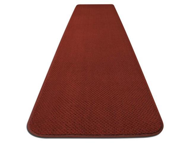 Skid-resistant Carpet Runner - Brick Red - Many Other Sizes to Choose From