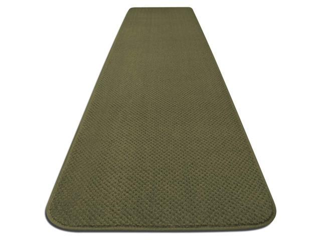 Skid-resistant Carpet Runner - Olive Green - Many Other Sizes to Choose From