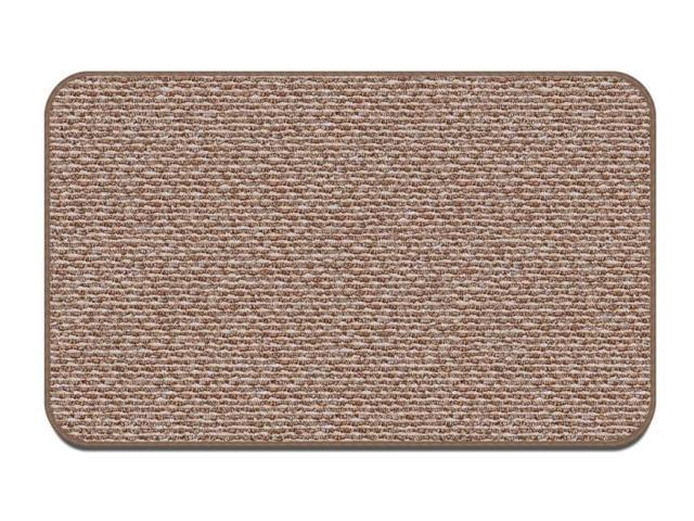 Skid-resistant Carpet Area Rug Floor Mat - Praline Brown - Many Other Sizes to Choose From