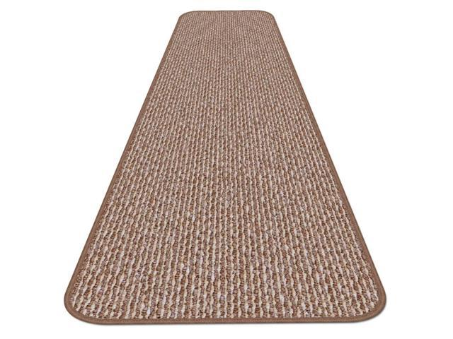 Skid-resistant Carpet Runner - Praline Brown - Many Other Sizes to Choose From