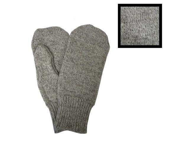 Men's Gray Wool Mittens Style 2015