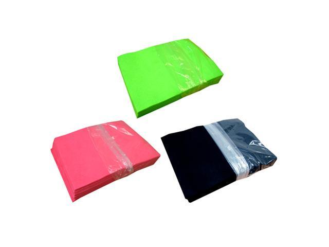 Acrylic Felt Value Pack – Neon Lime, Shocking Pink and Black (25 Sheets per Color)