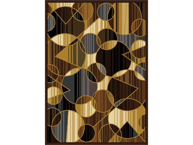 Home Dynamix Area Rugs: Royalty Rug: 8100 Brown Gray 7'8