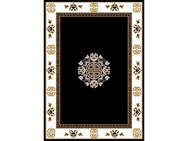 Home Dynamix Area Rugs: Premium Rug: 7114: Black 7' 9