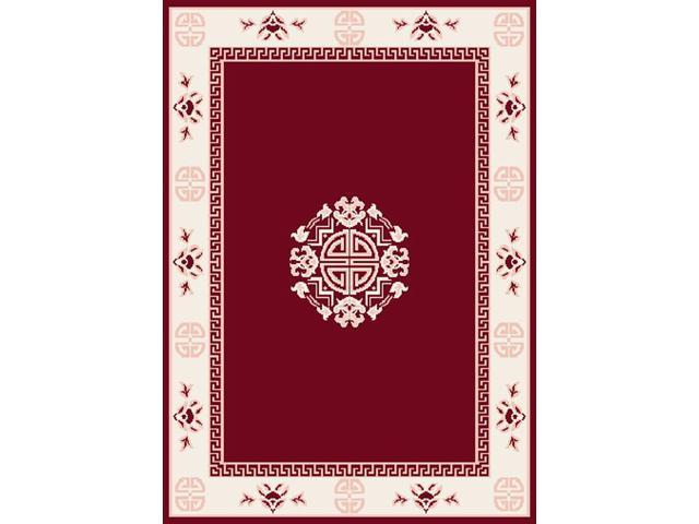 Home Dynamix Area Rugs: Premium Rug: 7114: Red 3' 7