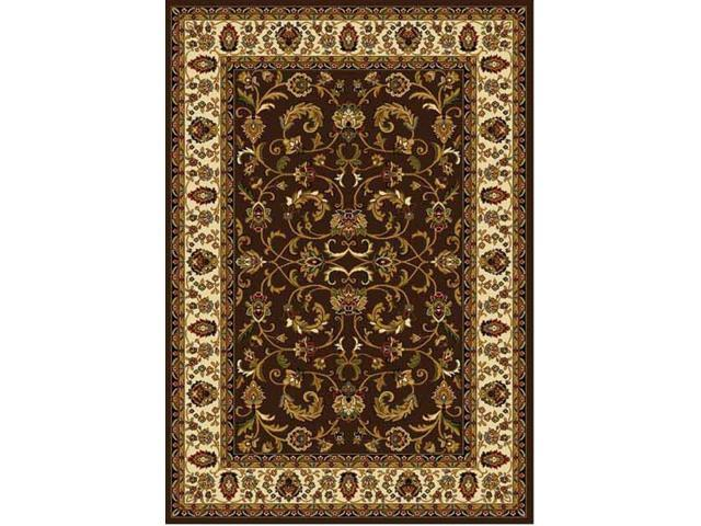 Home Dynamix Area Rugs: Royalty Rug: 3208-511 Brown Ivory 1'9