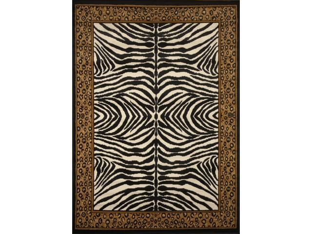 Home Dynamix Area Rugs: Zone: 75: Leopard on Zebra Rug 1' 10
