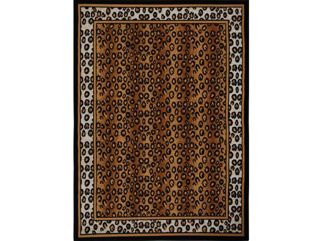 Home Dynamix Area Rugs: Zone: 56: Solid Leopard Rug 5' 3