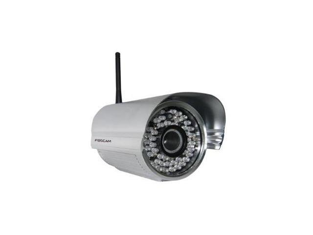 Foscam FI8905W Outdoor Wireless/Wired IP Camera Waterproof with 30 Meter Night Vision and 6mm Lens (42? Viewing Angle)- Silver