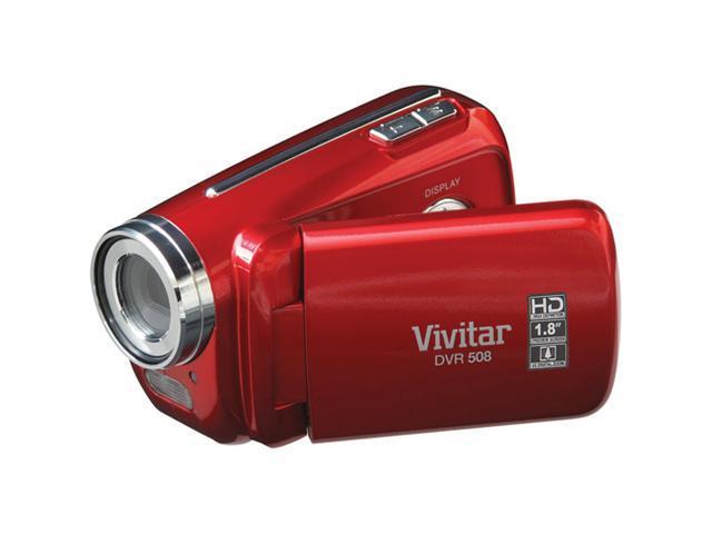 Vivitar DVR 508HD Digital Video Recorder (Strawberry Red)