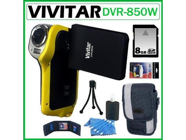 Vivitar DVR-850W Underwater Digital Camcorder Yellow 8GB Kit