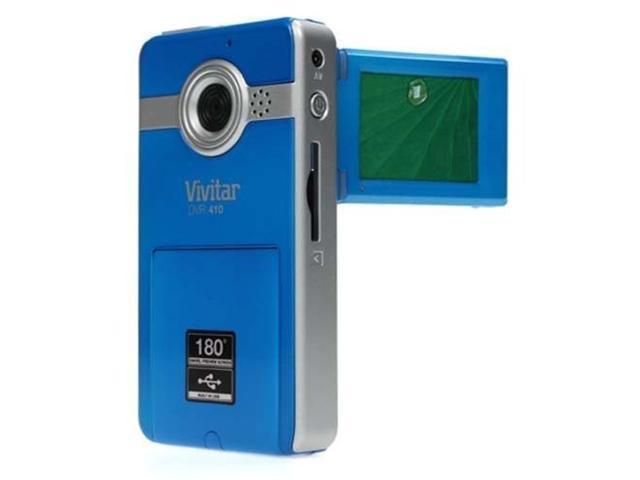 Vivitar DVR410 4X Zoom Digital Video Camera Camcorder Blue - DVR410-BLUE