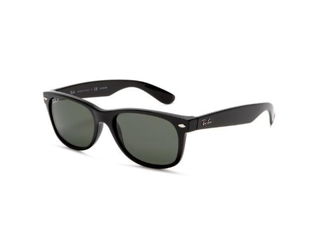 ray ban new wayfarer rb2132 sunglasses  ray ban rb2132 new wayfarer sunglasses (55mm) black frame / green g