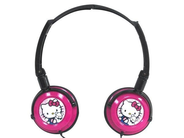 Sakar Hello Kitty Pink Hello Kitty DJ Style Headphones N/A Headphones and Accessories