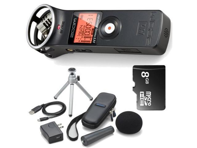 Zoom H1 Handy Portable Digital Recorder + 8 GB Memory Card + Accessory Kit