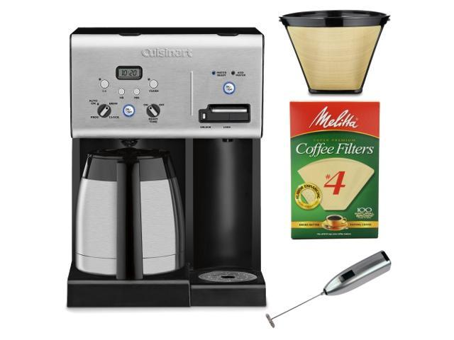 Coffee Maker Plus Hot Water : Cuisinart CHW-14 Coffee Plus 10-Cup Thermal Programmable Coffeemaker and Hot Water System with ...