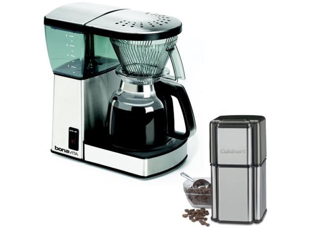 Best Coffee Grinder Coffee Maker Combo : Bonavita BV1800 8-Cup Coffee Maker with Glass Carafe with Cuisinart Grind Central Coffee Grinder ...