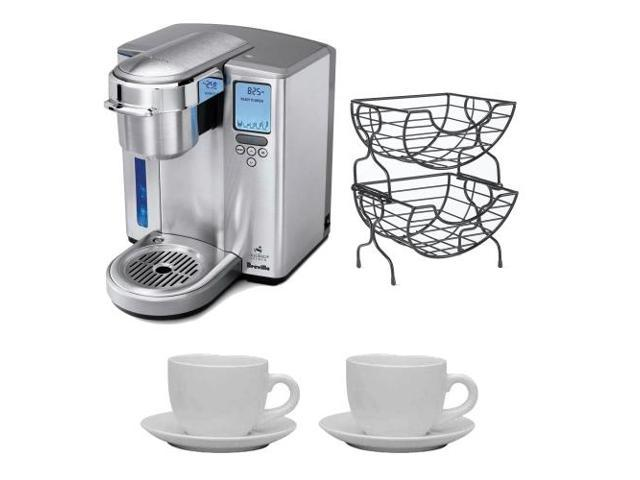 Breville BKC700XL Gourmet Single Serve Coffeemaker/Iced Beverage Function and Nifty Single Serve Coffee Baskets