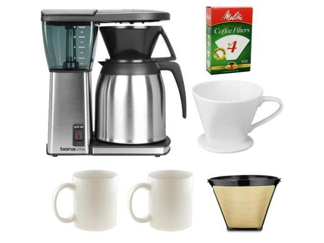 Bonavita BV1800TH 8 Cup Coffee Maker With Accessory Bundle
