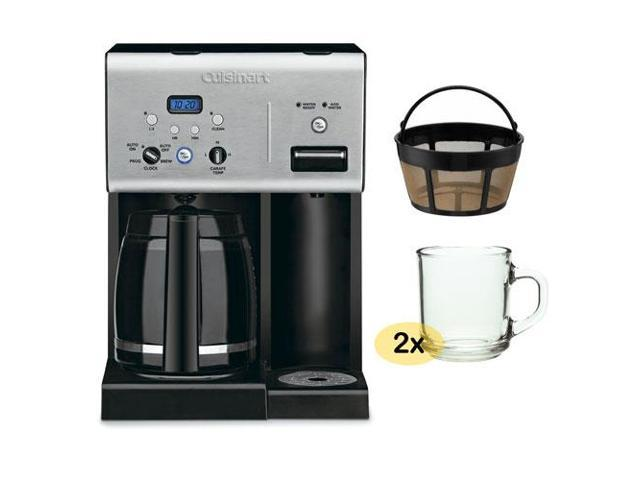 Cuisinart CHW-12 12-cup Programmable Coffee Maker w/ Gold Tone Basket Coffee Filter and 2 Pieces ...