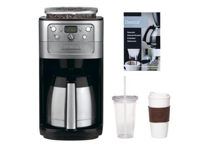 Cuisinart DGB-700BC Graind & Brew 12-Cup Automatic Coffeemaker + 2-Pack Coffee Mug & Iced Beverage Cup + Accessory Kit