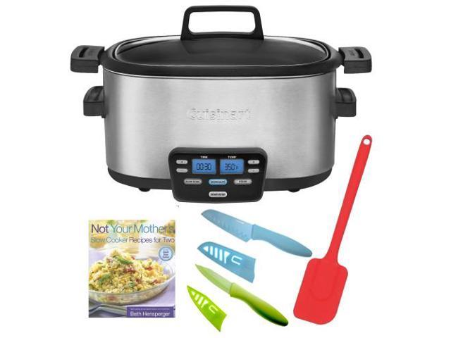 Cuisinart Cook Central MSC-600 6 quart Slow Cooker + Not Your Mother's Slow Cooker Recipes for Two + Silicone Spatula + Accessory ...