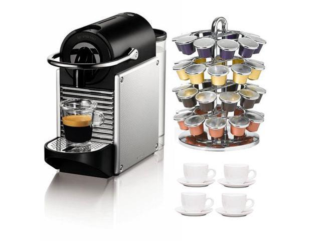 Nespresso K Cup Coffee Maker : Nespresso Pixie D60 Single Cup Espresso Maker (Aluminum) + Accessory Kit - Newegg.com
