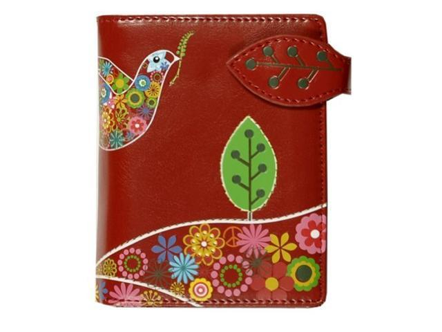 New Peace Dove Red Small Woman's Wallet By Shagwear