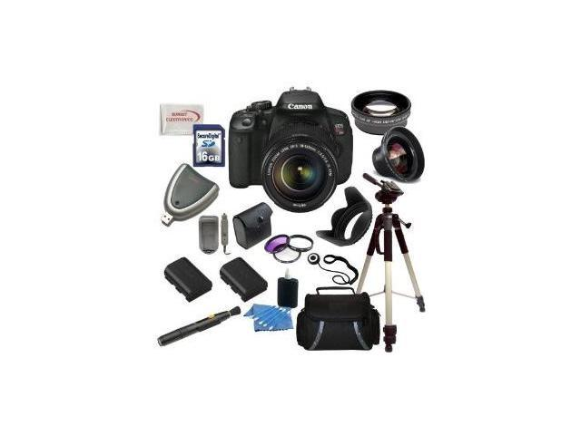 Canon EOS Rebel T4i/700D Digital Camera with EF-S 18-135mm f/3.5-5.6 IS STM Lens + Wide Angle & Telephoto Lens, Filters, 16GB SDHC Memory Card, ...